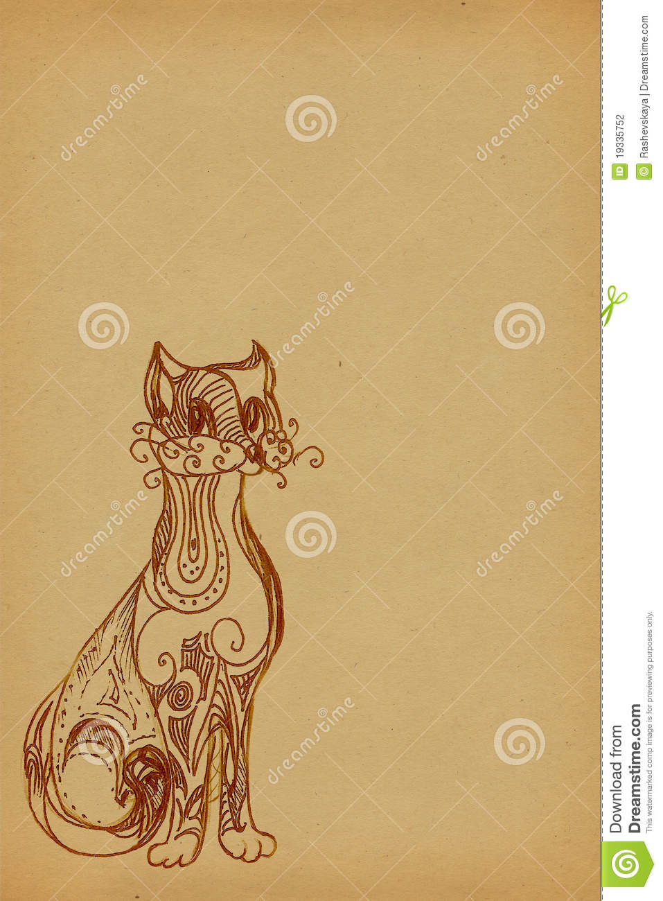 Background with a cat