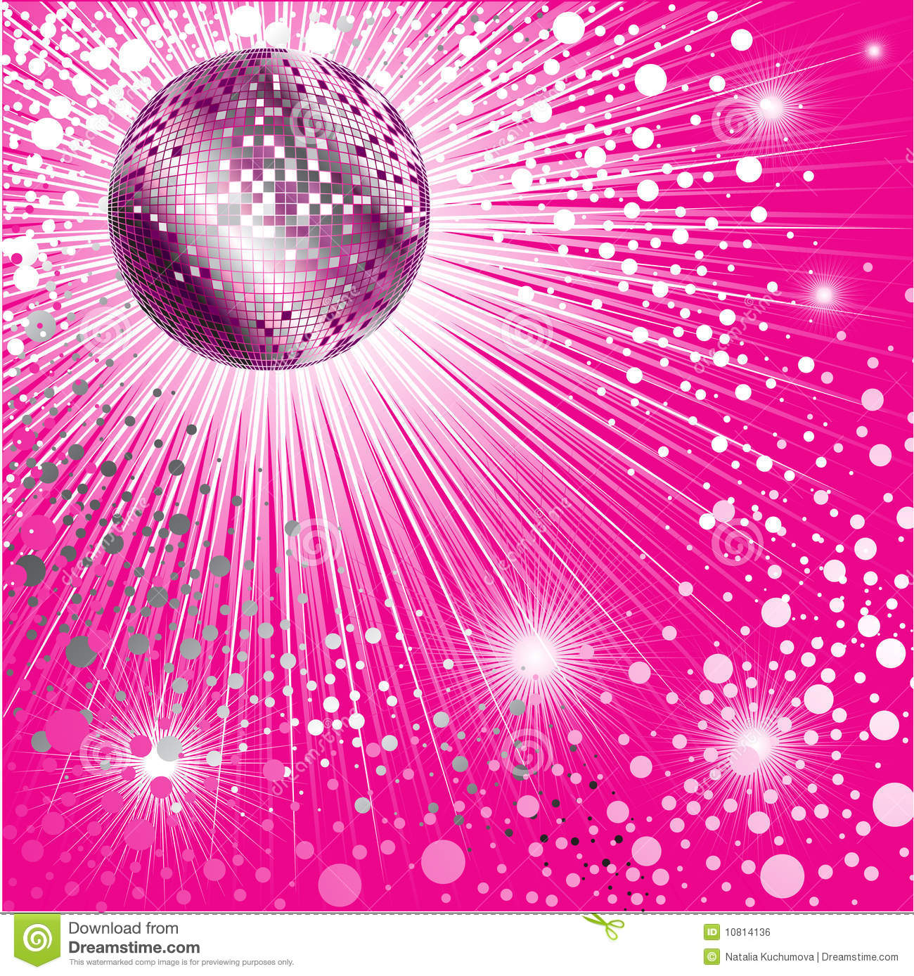 Background - CD Cover design with disco-ball