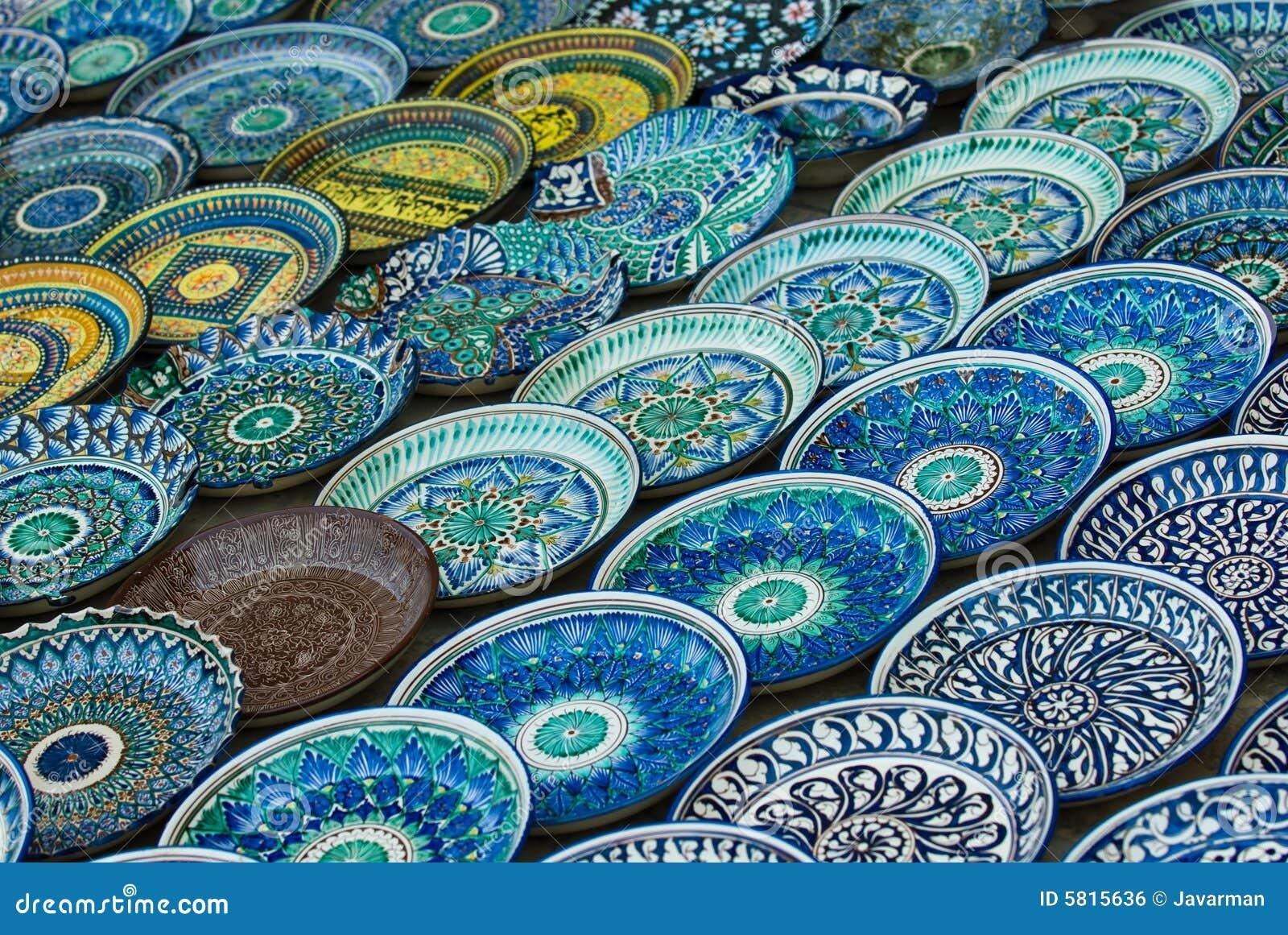 Background Of Ceramic Plates Royalty Free Stock Image - Image: 5815636