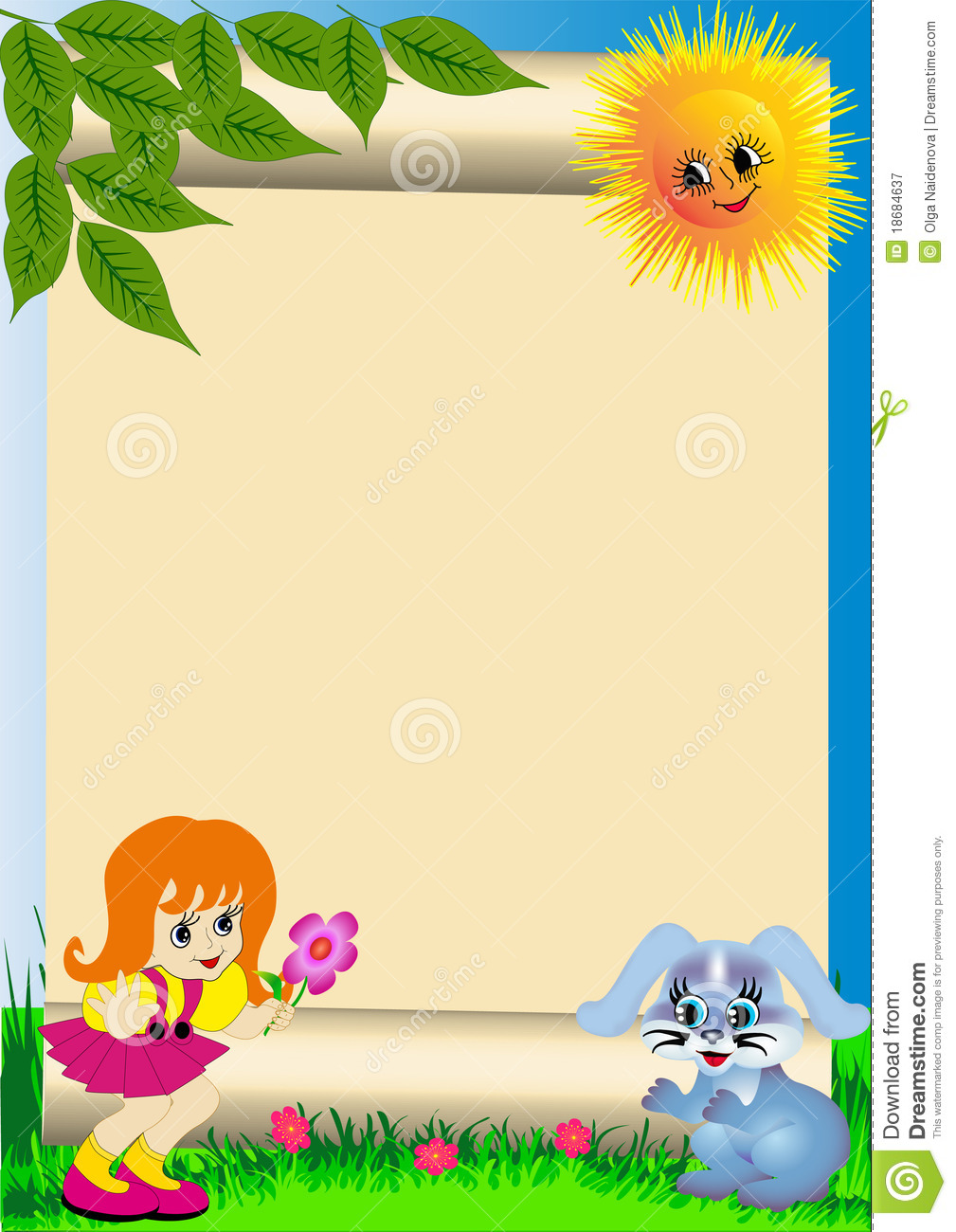 Background child with flower