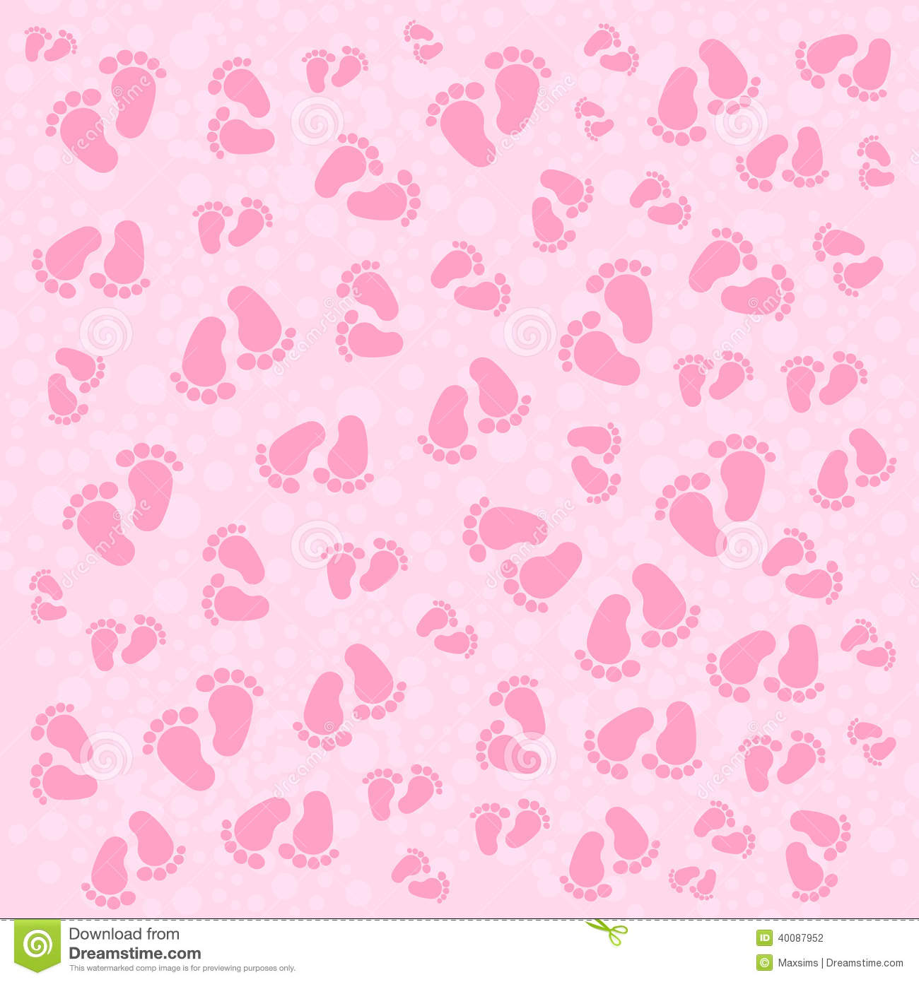 Background Children Traces Baby Texture Stock Vector