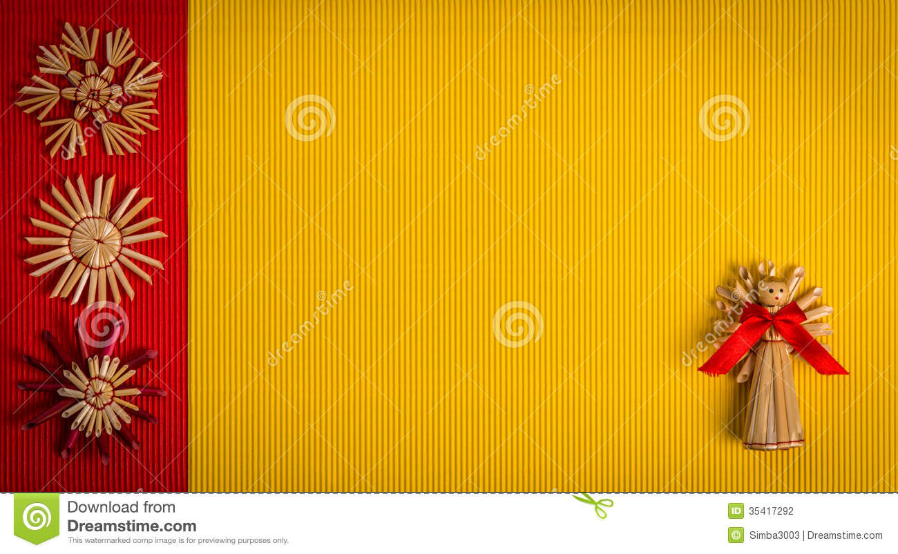 Background for christmas greeting card holiday straw decoration background for christmas greeting card holiday straw decoration red and yellow color textured paper m4hsunfo Images