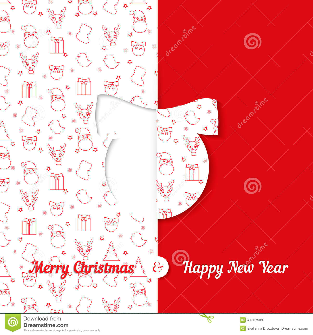 Christmas And New Year Greeting Card Templates Images – New Year Greeting Card Template