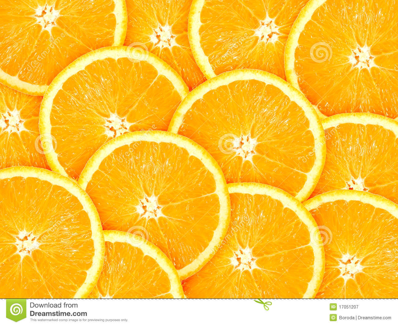 Background with citrus-fruit of orange slices