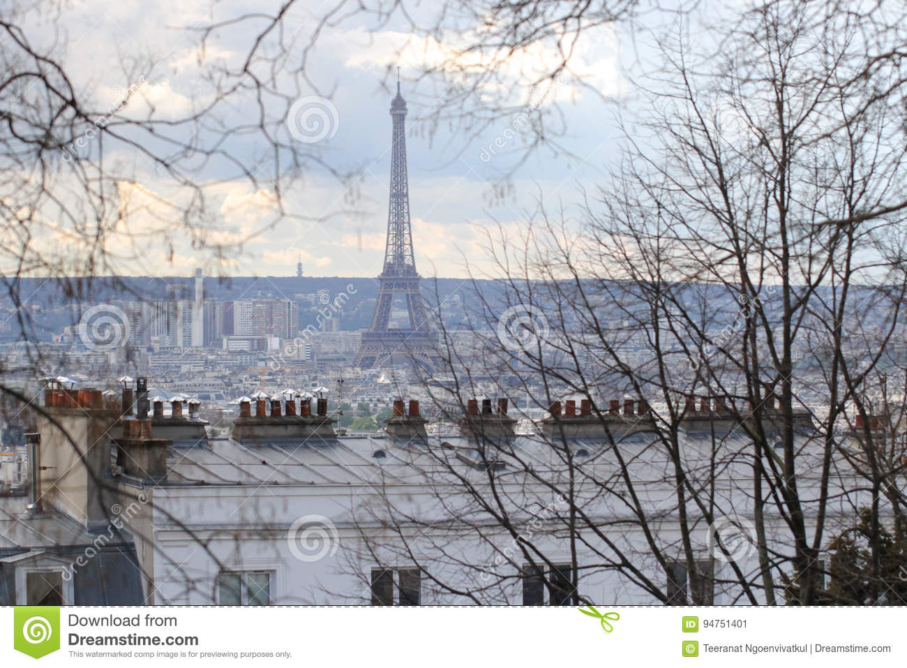 Background Of City Landscape View Winter Paris France Stock Image Image Of Dynamic High 94751401