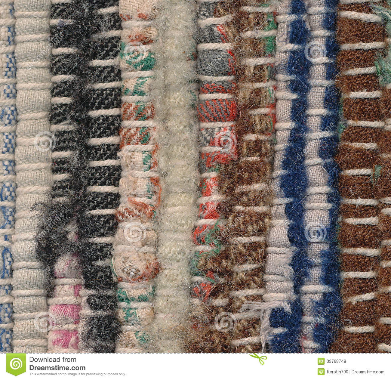 Xl Rag Rug: Closeup Old Rag Rug Stock Photo