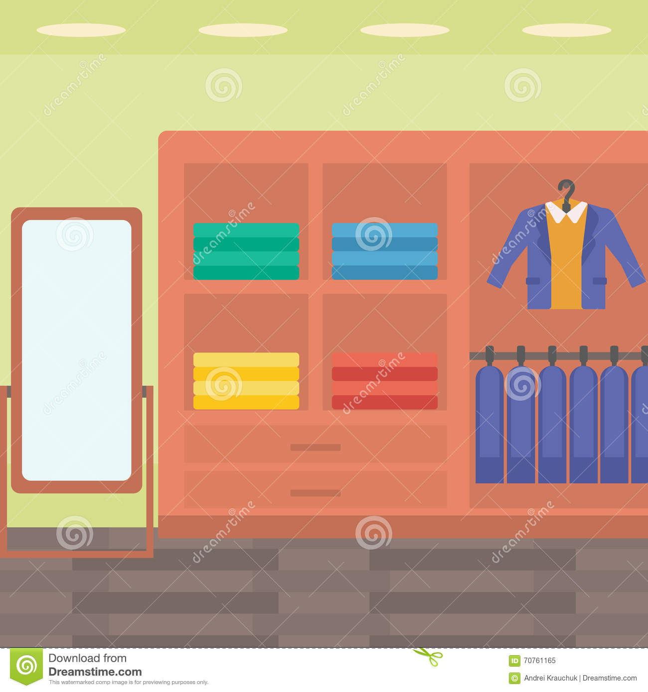 background of clothes store stock vector illustration of decor