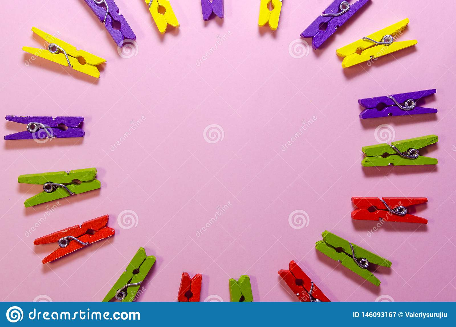 Background of clothespins