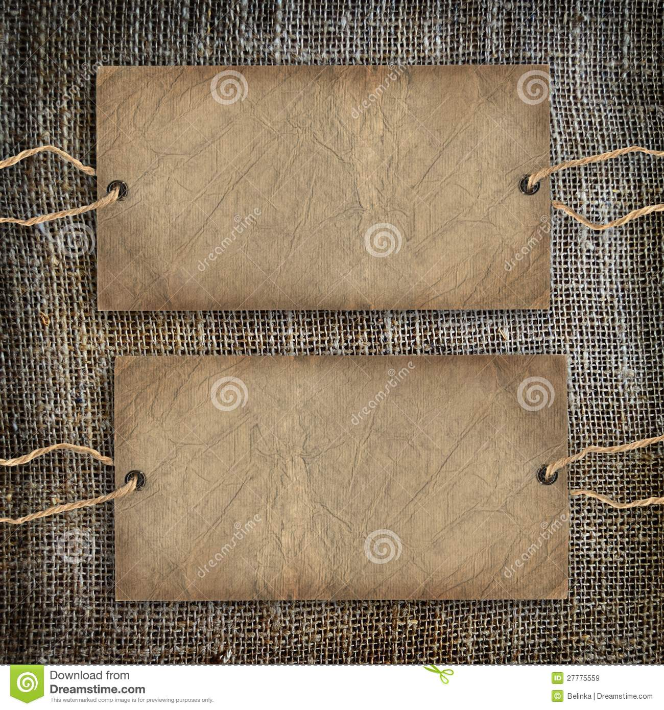 Background Coffee Texture Vintage Burlap Royalty Free