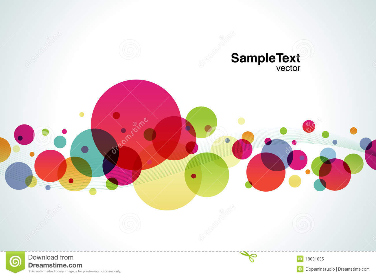 Background Color Bubble Stock Vector Illustration Of Wave 18031035