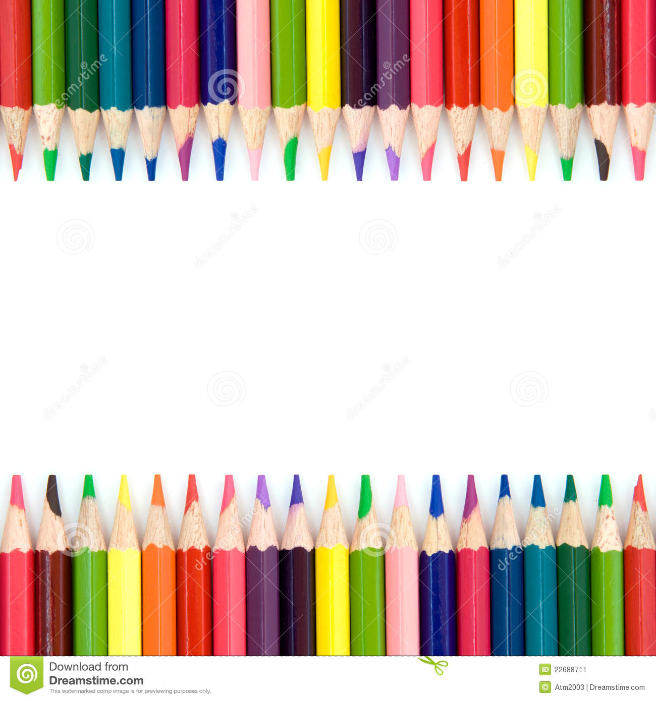 Background With Color Pencils Stock Image - Image of brown
