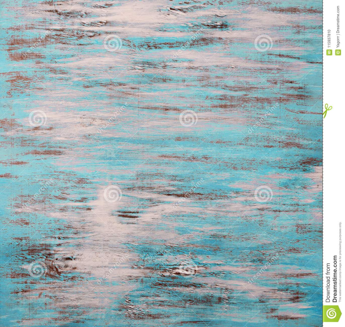 Background of colored abstract turquoise-white with wood texture
