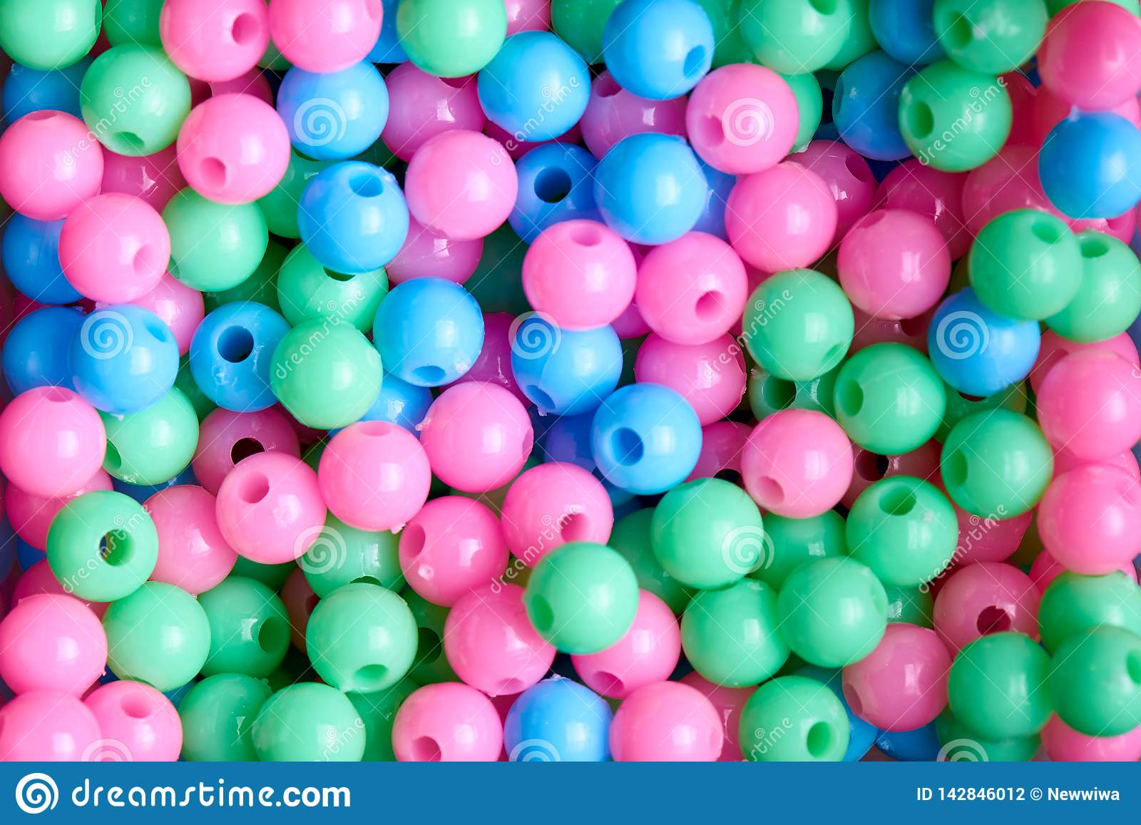 Background of colored beads close-up