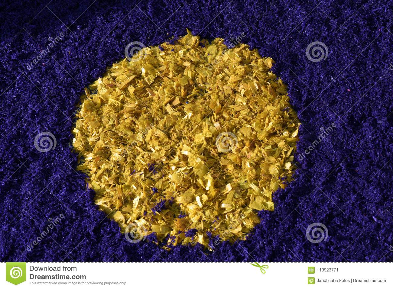 Background Of Colored Wood Shavings Stock Image - Image of