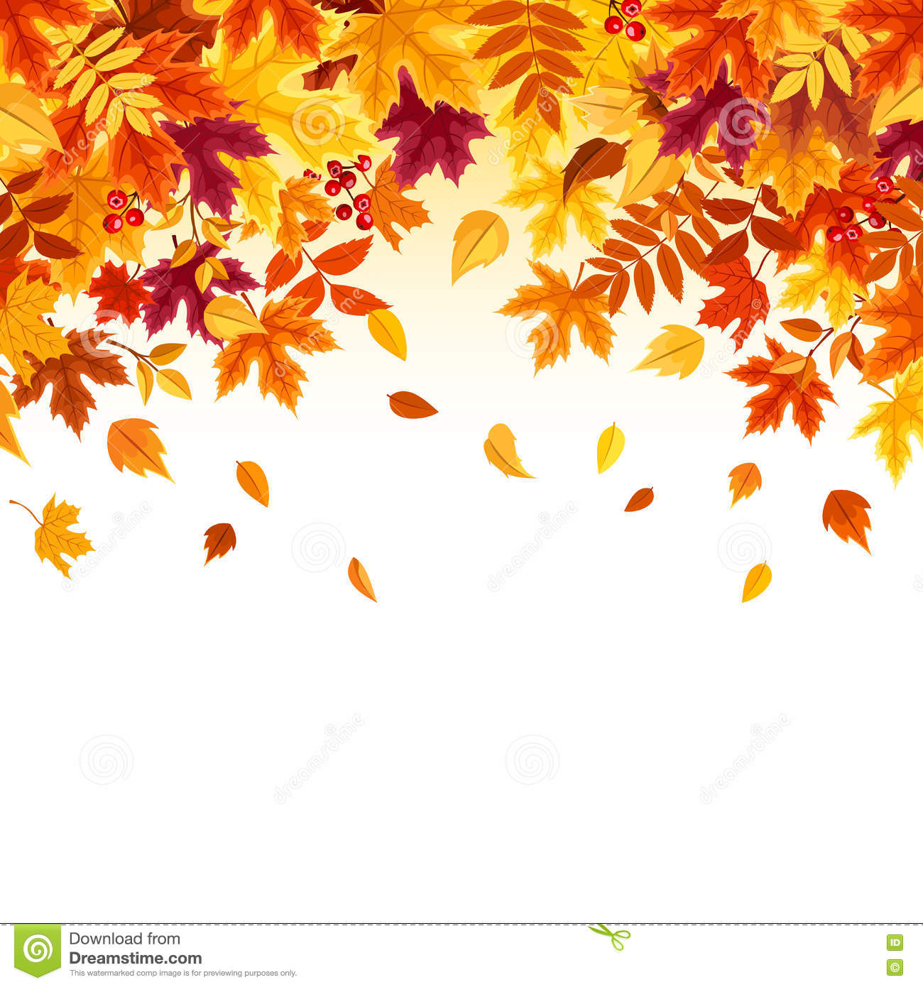 background with colorful falling autumn leaves vector illustration rh dreamstime com fall leaves vector art fall leaves vector image
