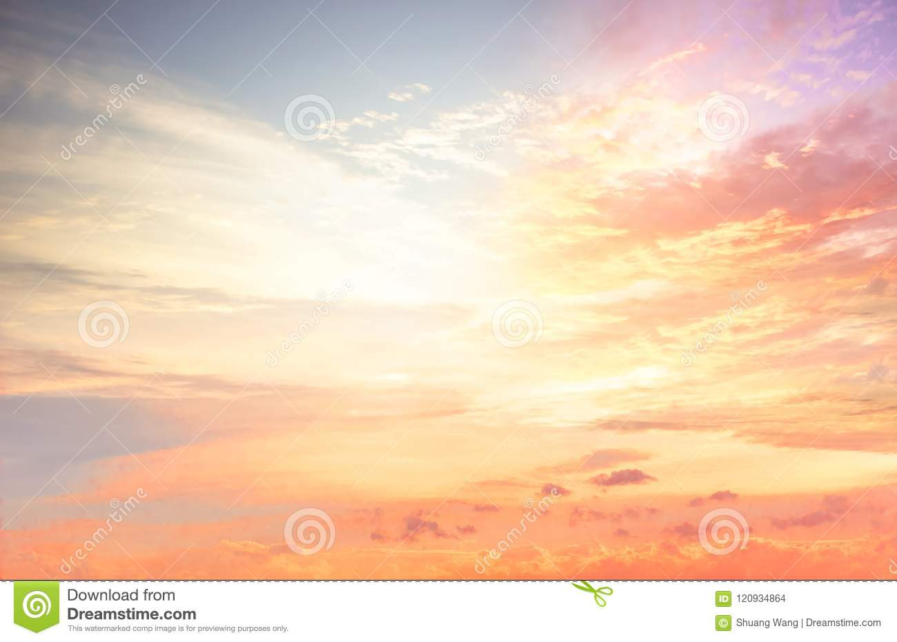 Background Of Colorful Sky Concept Dramatic Sunset With Twilight