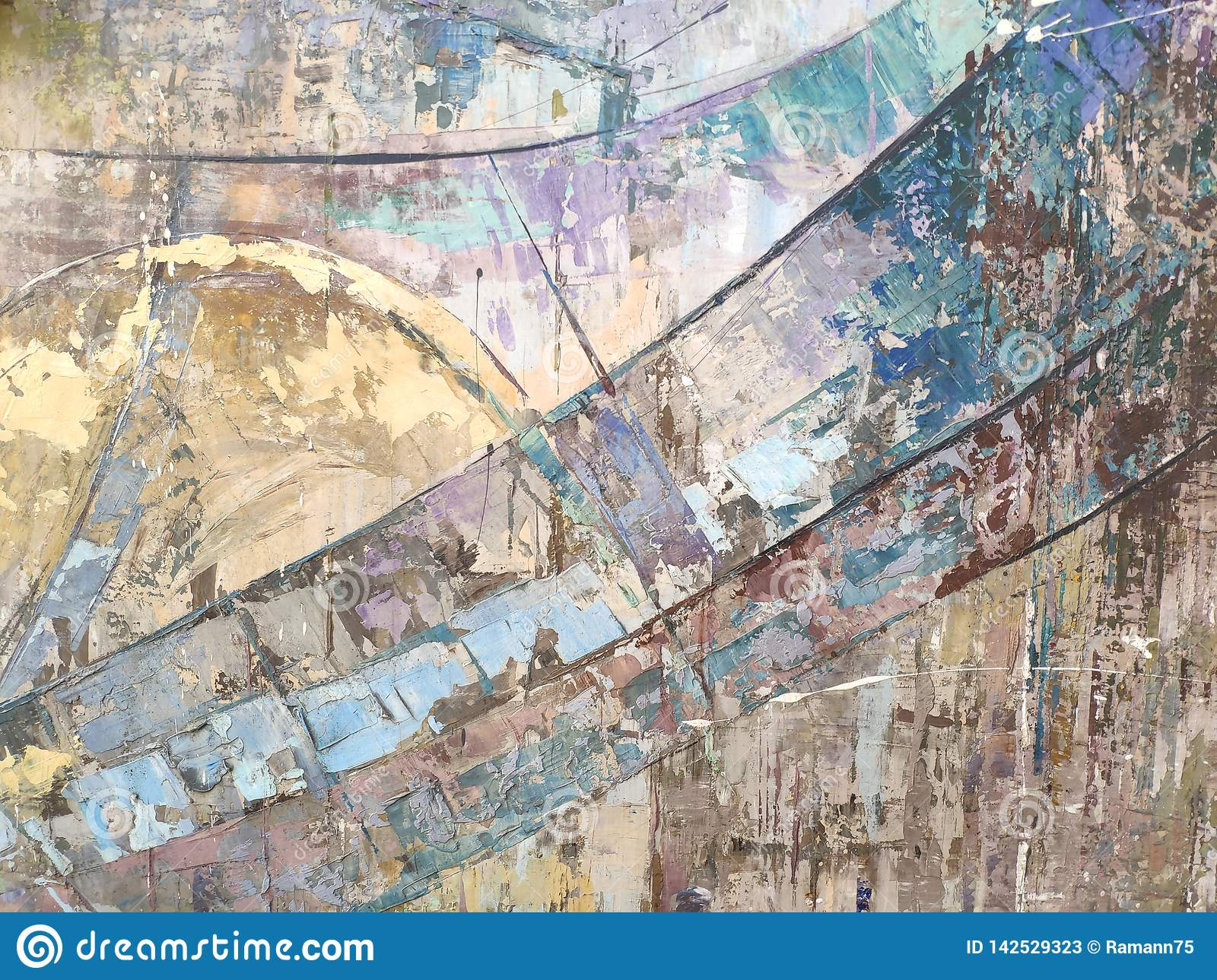 Background Or Concept Modern Abstract Art Colourful Stripes