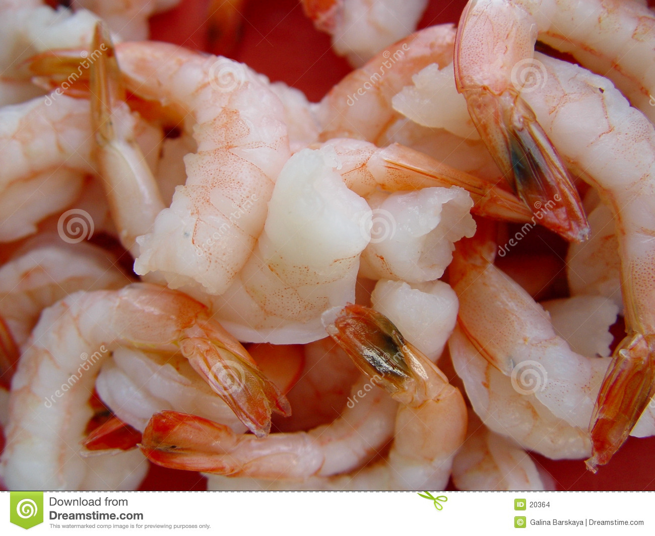Background of cooked shrimp