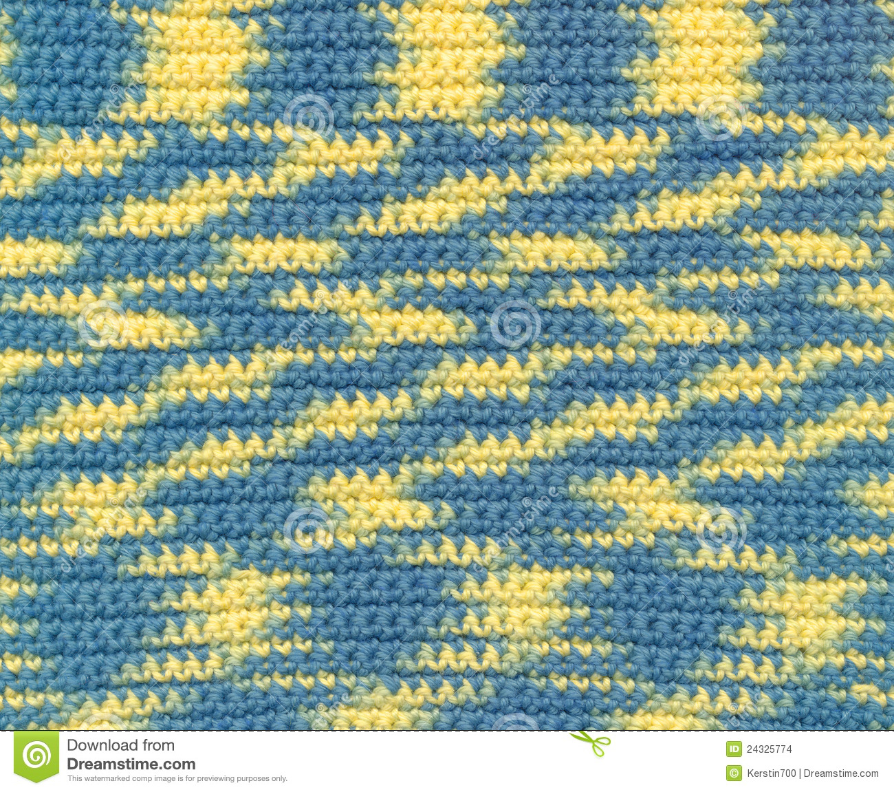Background Crochet Variegated Yarn Stock Photo Image Of