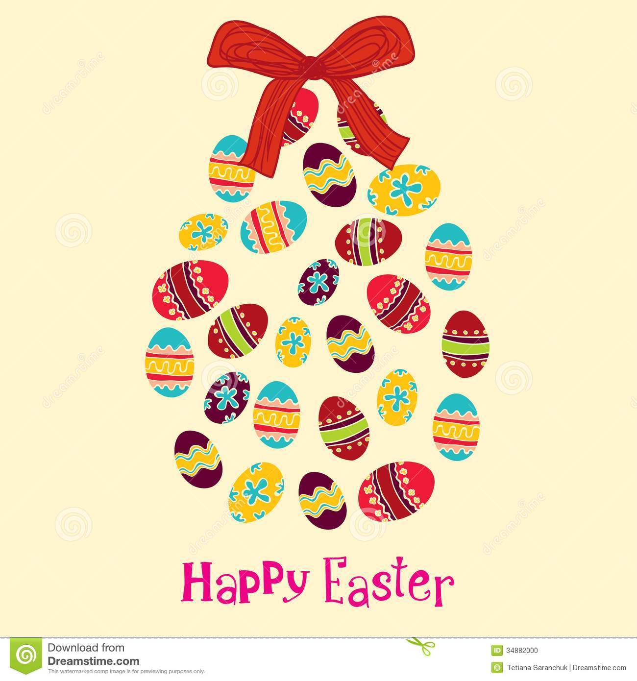 background with cute easter egg stock vector illustration of cover