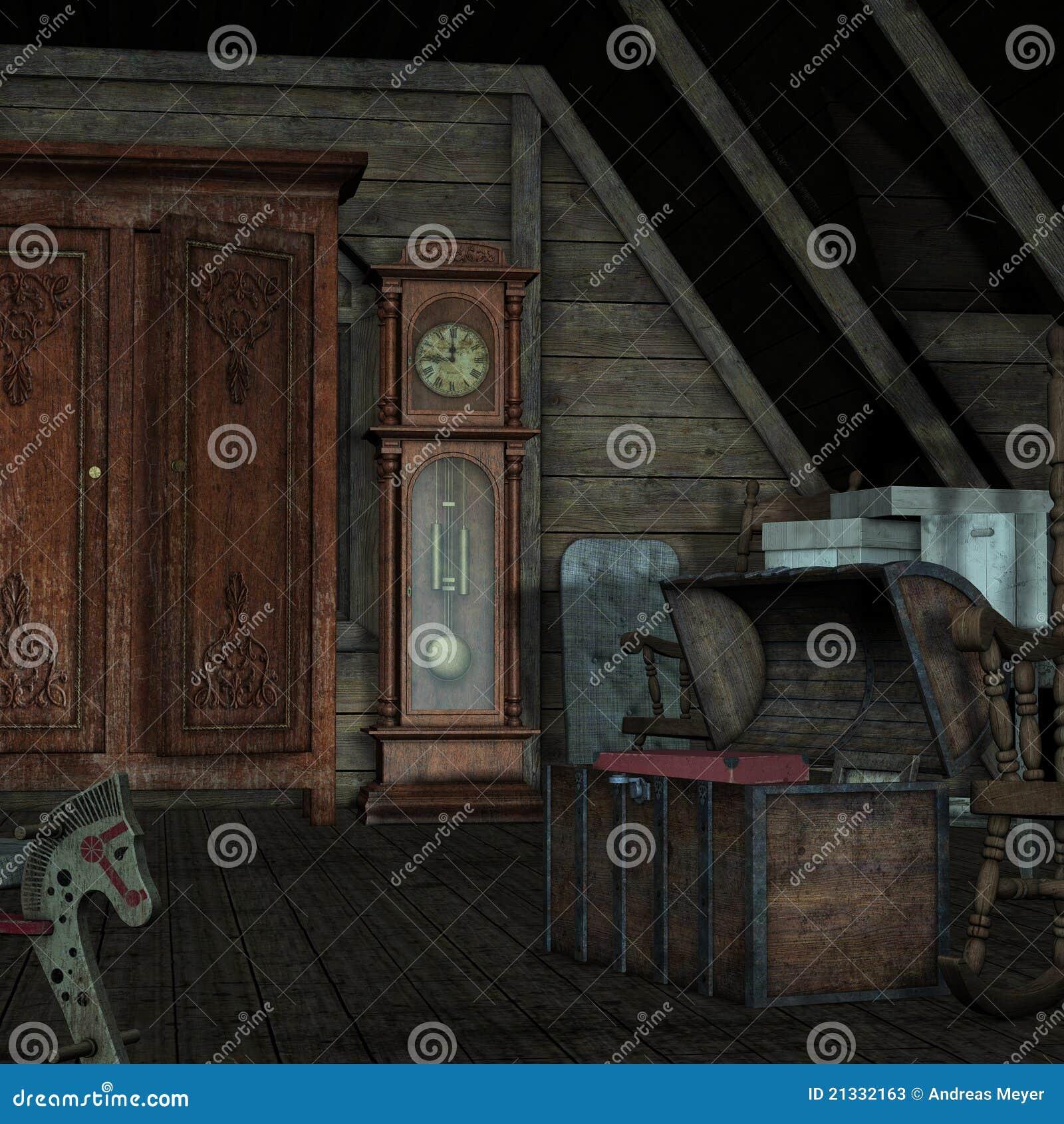 Background-Dark Room Stock Photos