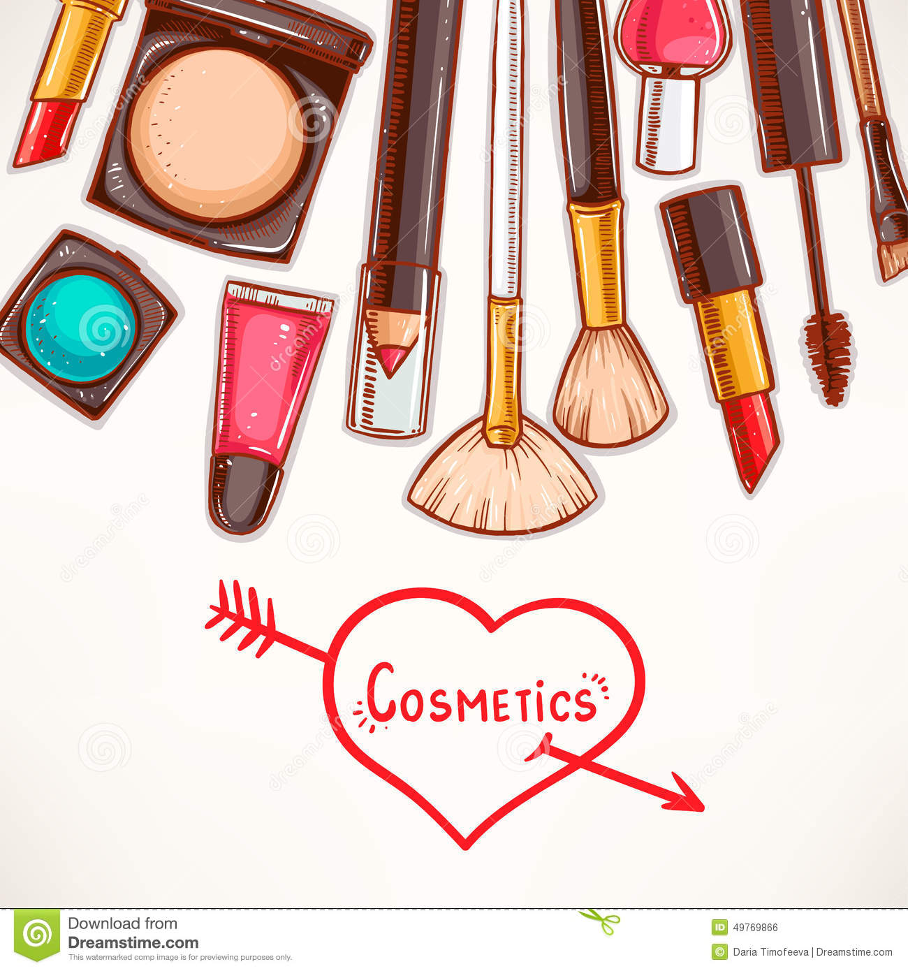 Background With Decorative Cosmetics Stock Vector - Image ...