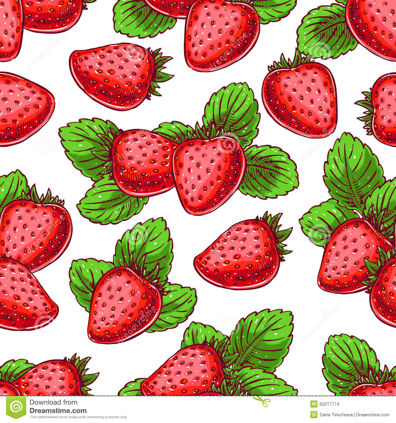 Background with delicious strawberries