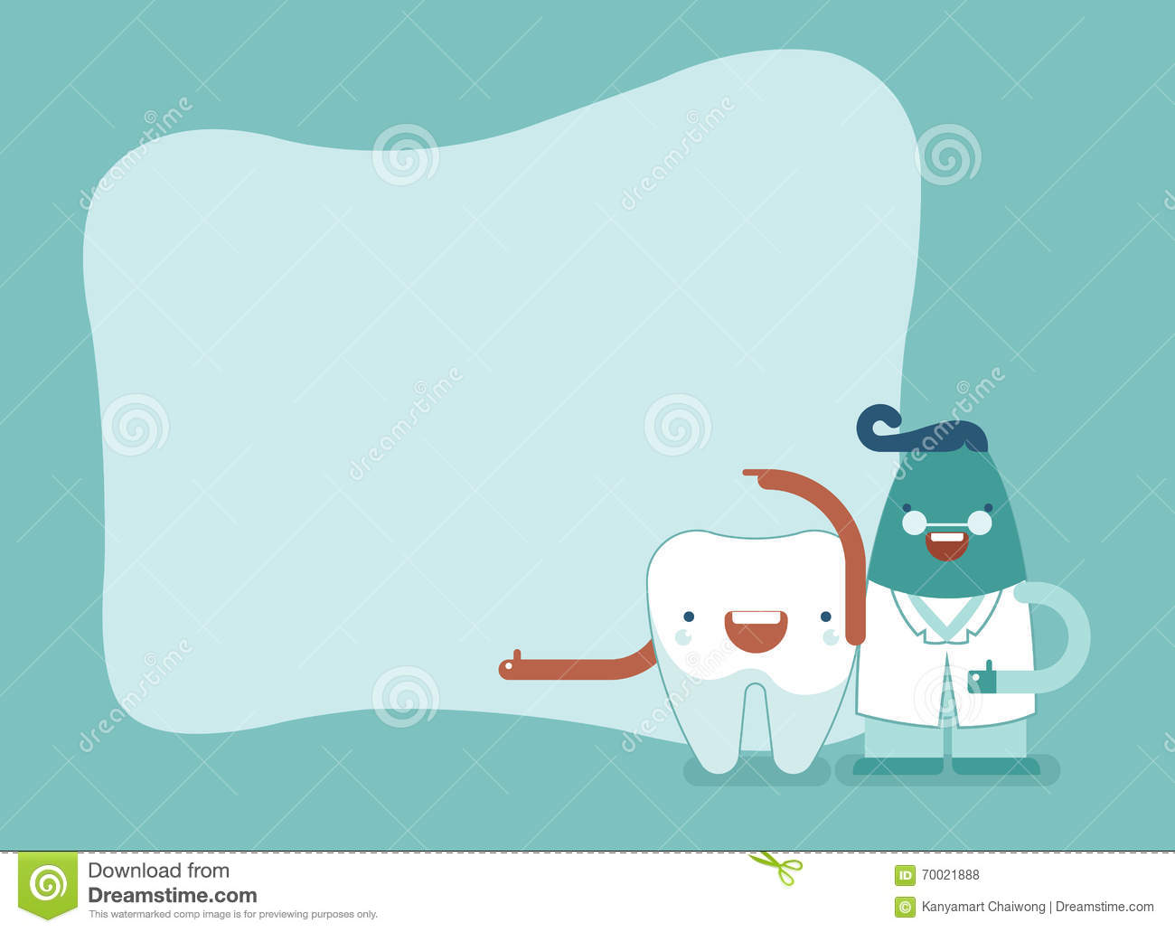 Background Of Dental,tooth And Dentist Set2 Stock Vector