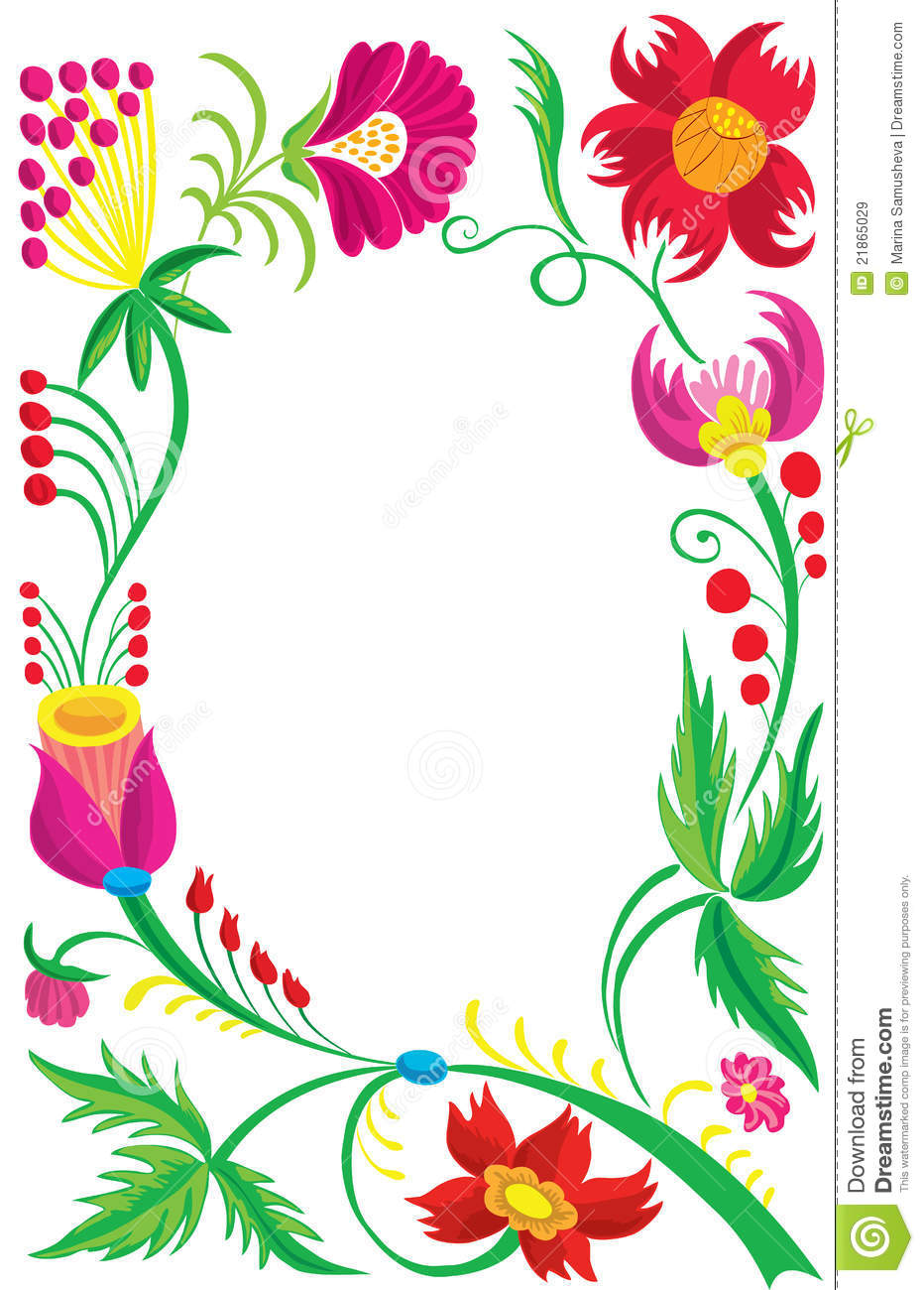 Design Of A Beautiful Flower Pattern Stock Vector