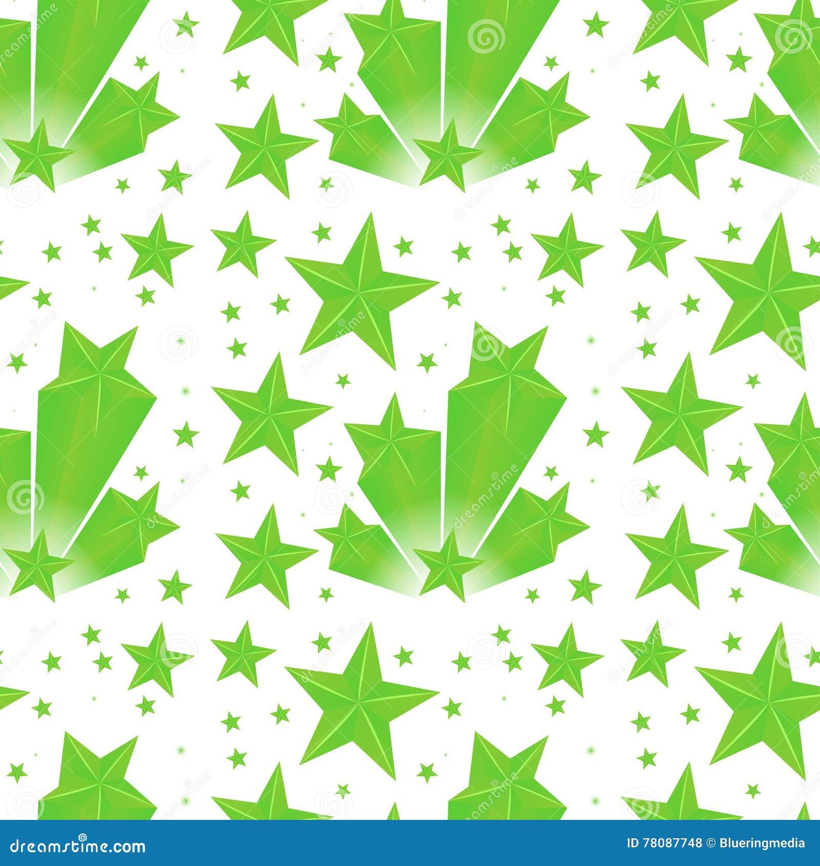 background design green stars stock vector image 78087748