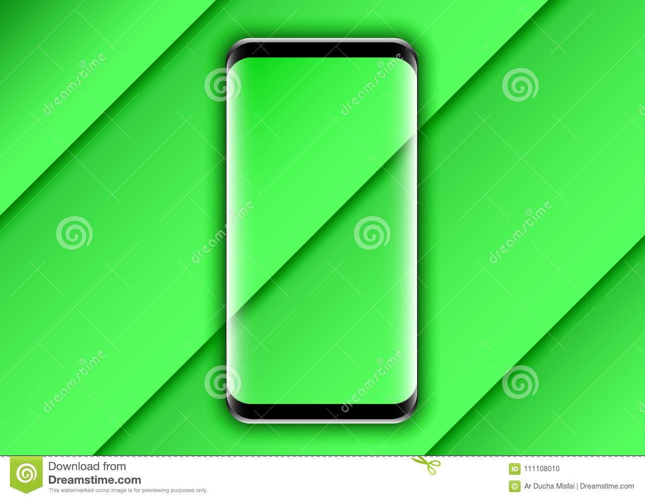 Background Design Green Texture For Phone Stock Vector
