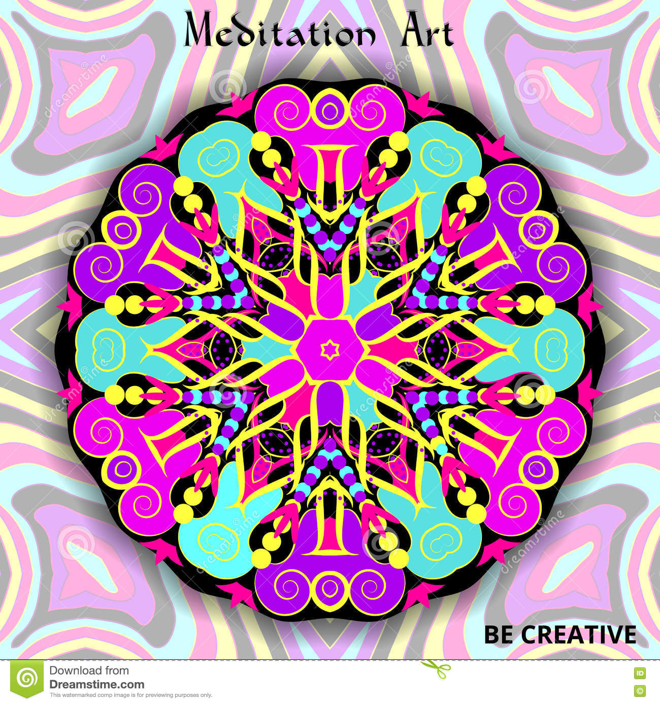 Background For Design With A Pattern Of The Mandala  Element