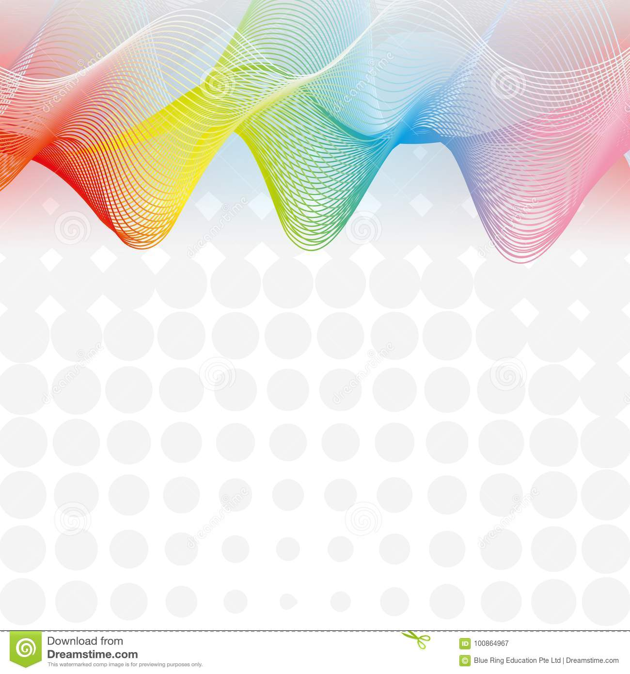 Background Design With Rainbow Grid Lines Stock Vector