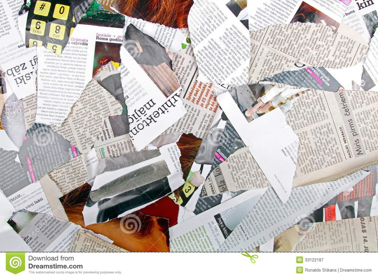Magazine word background stock photography image 12291482 - Background With Different Torn Newspapers And Magazines Royalty Free Stock Photography