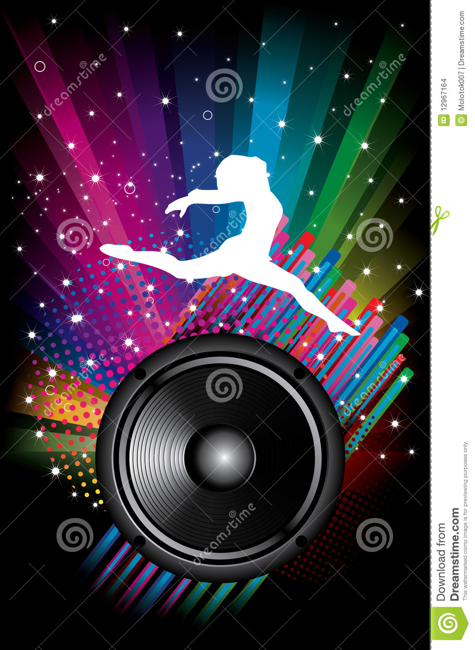 Background For Disco Flyers With Black Speaker Stock Images ...