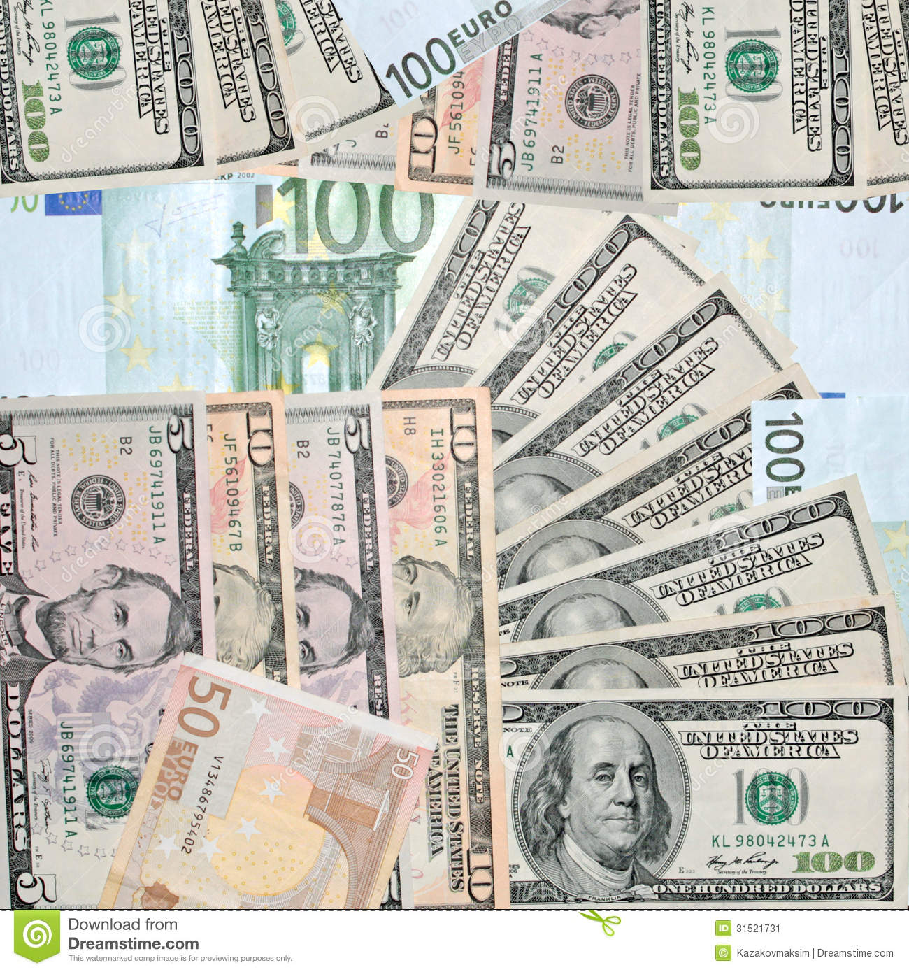 100(USD) US Dollar(USD) To Euro(EUR) Currency Exchange Today