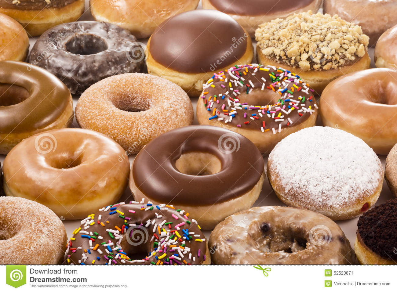 Background Of Donuts Stock Image Image Of Cream