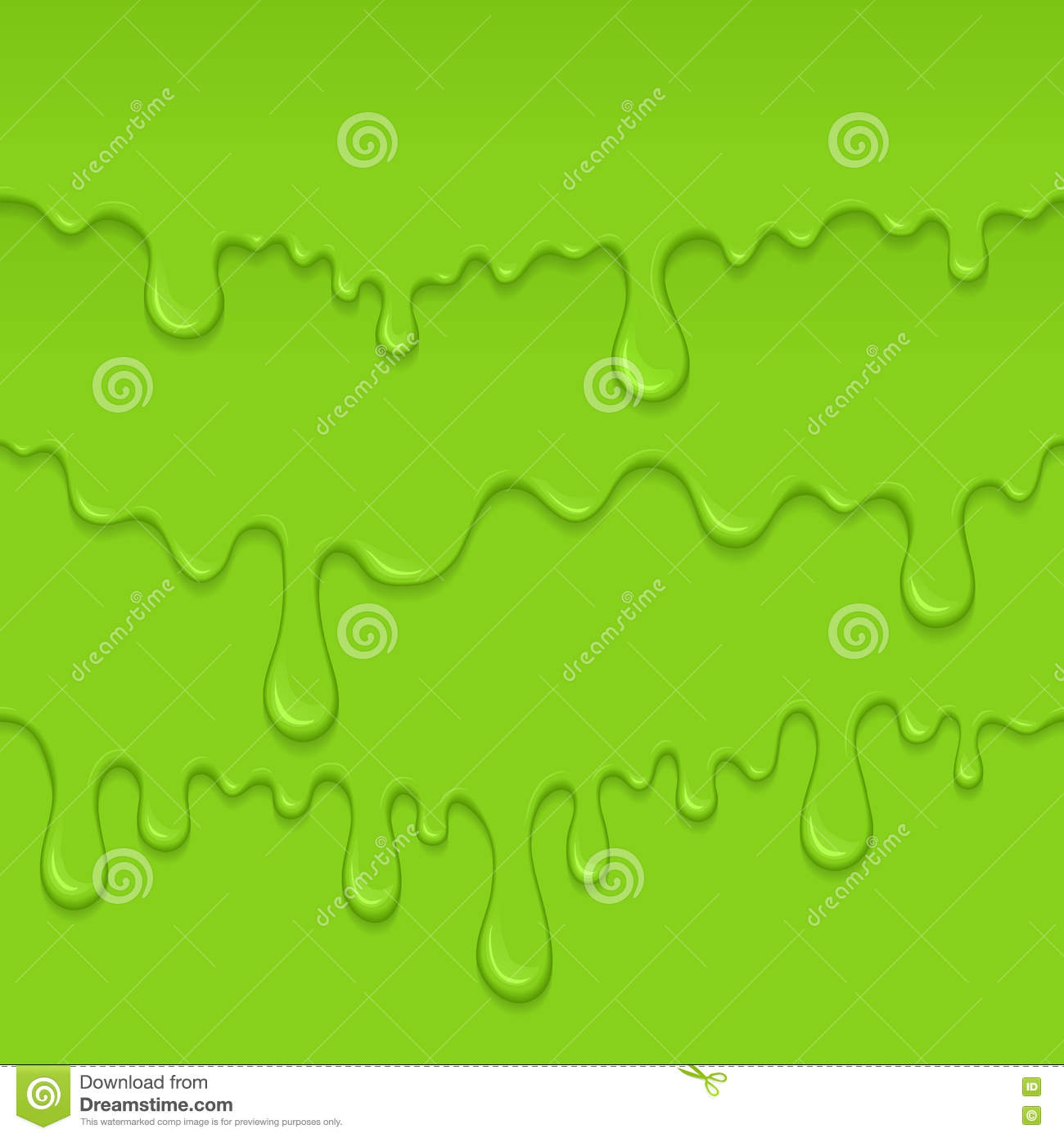 Background of dribble green slime.