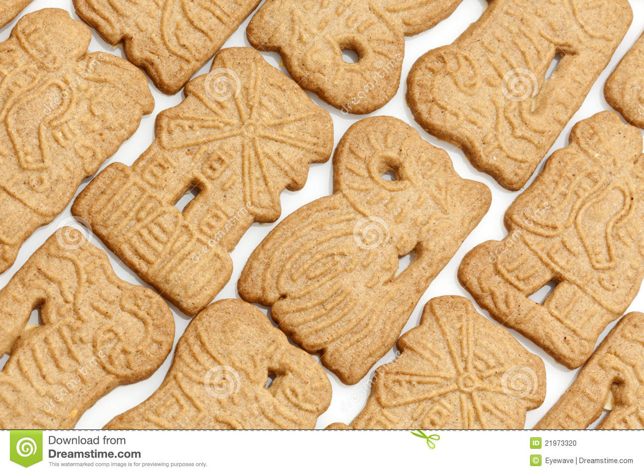 Background Of Dutch Speculaas Cookies Stock Photo - Image: 21973320