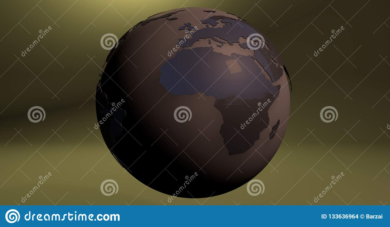 A background with the Earth planet in brown color, which shows the Africa continent.