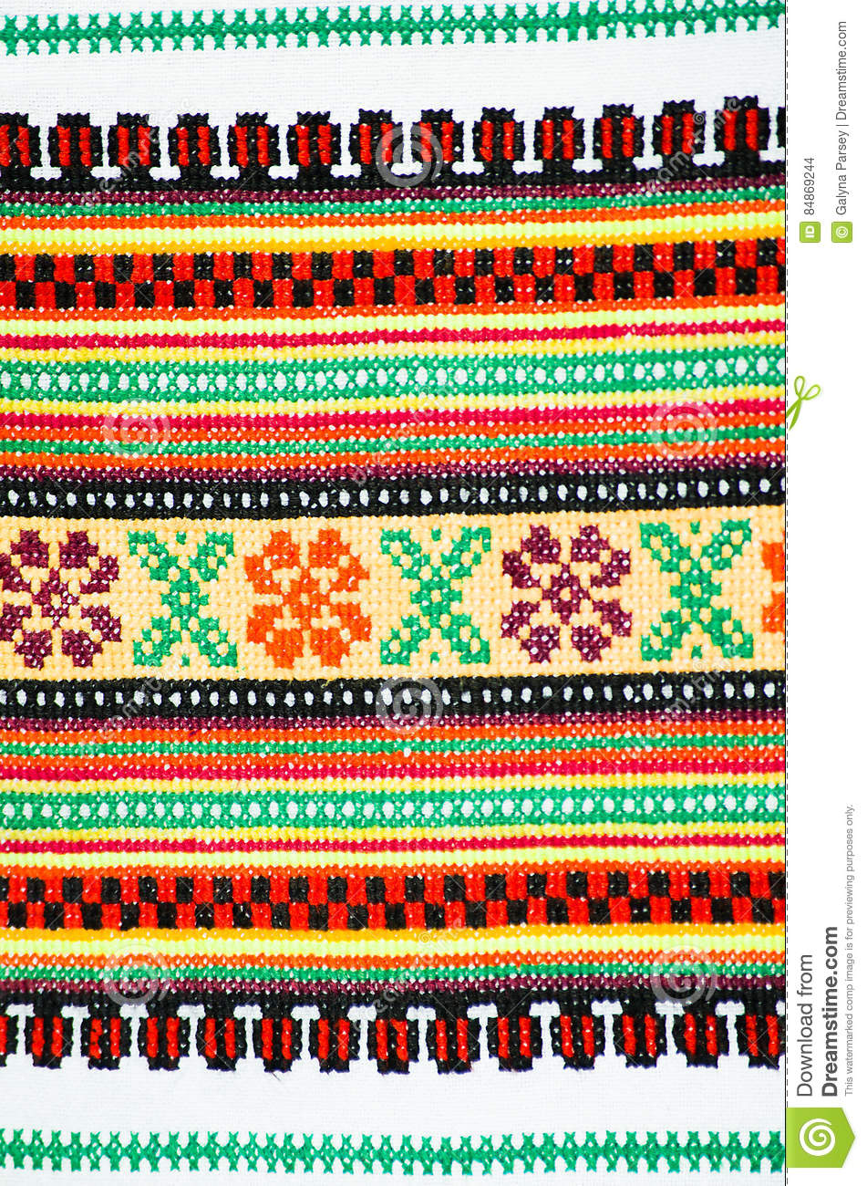 Background embroidered pattern