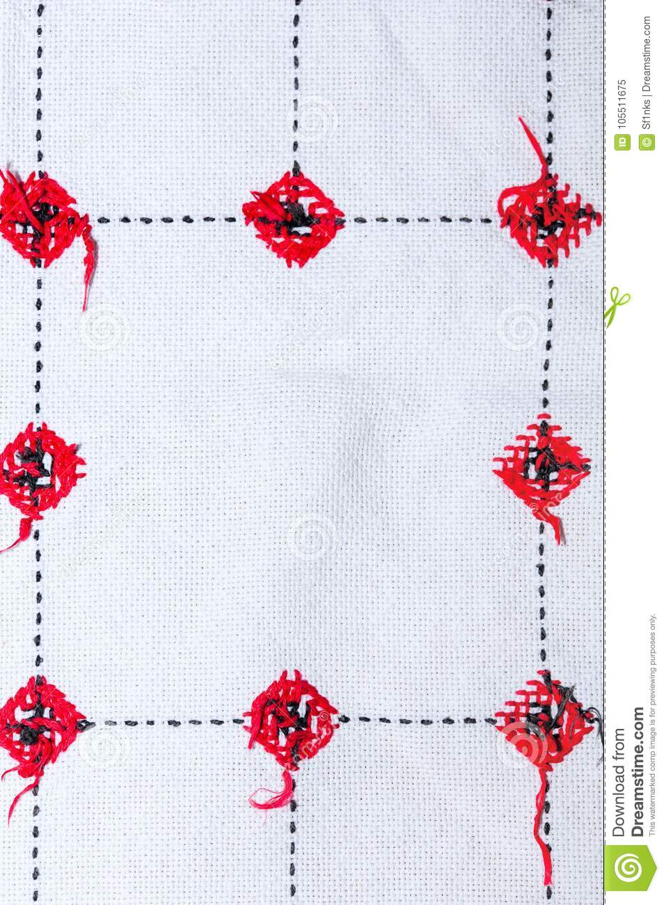 Background With Embroidery Types Of Embroidery Stock Image Image