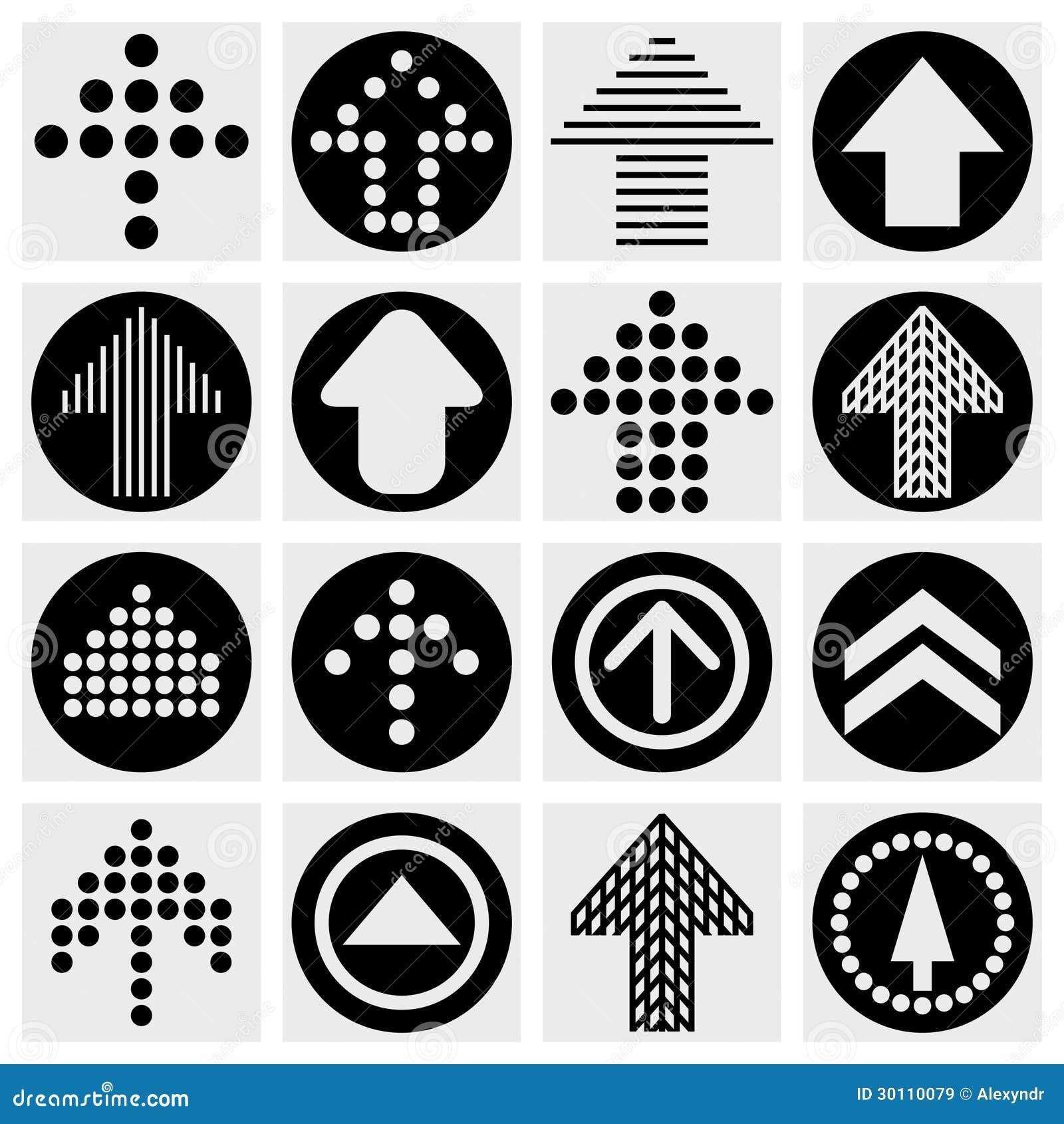 箭头标志象集合.简单的圈子形状互联网图片