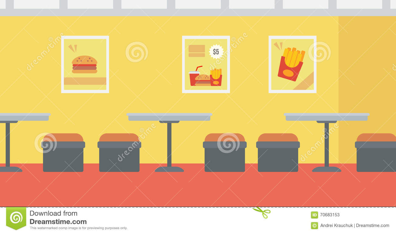 Background of fast food restaurant stock vector