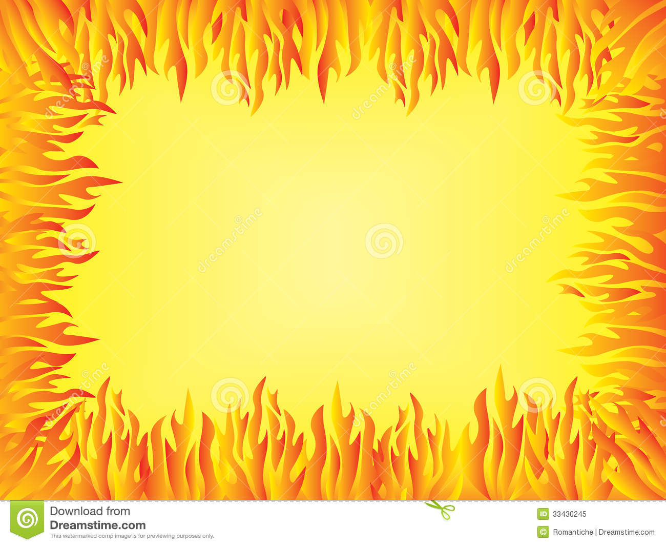 background with flames border royalty free stock photo