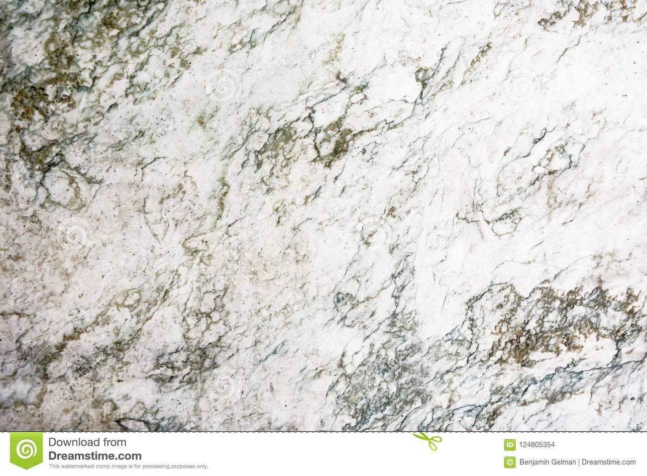 White Marble Slab With Dark Stains Stock Photo Image Of