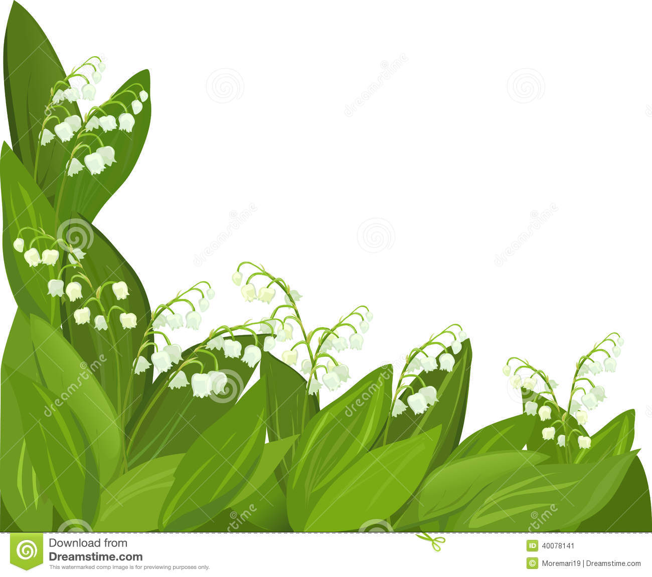 background flower lily of the valley stock vector image 40078141. Black Bedroom Furniture Sets. Home Design Ideas