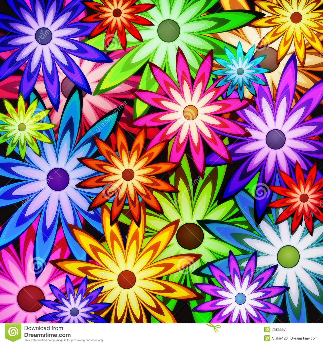 Background Of Flower Power Stock Illustration. Image Of