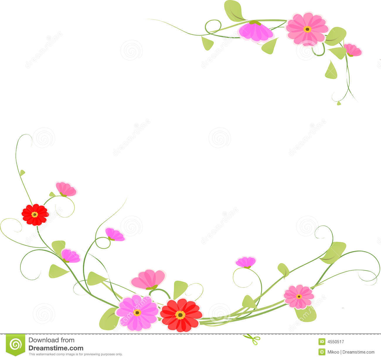 Background flower, vector