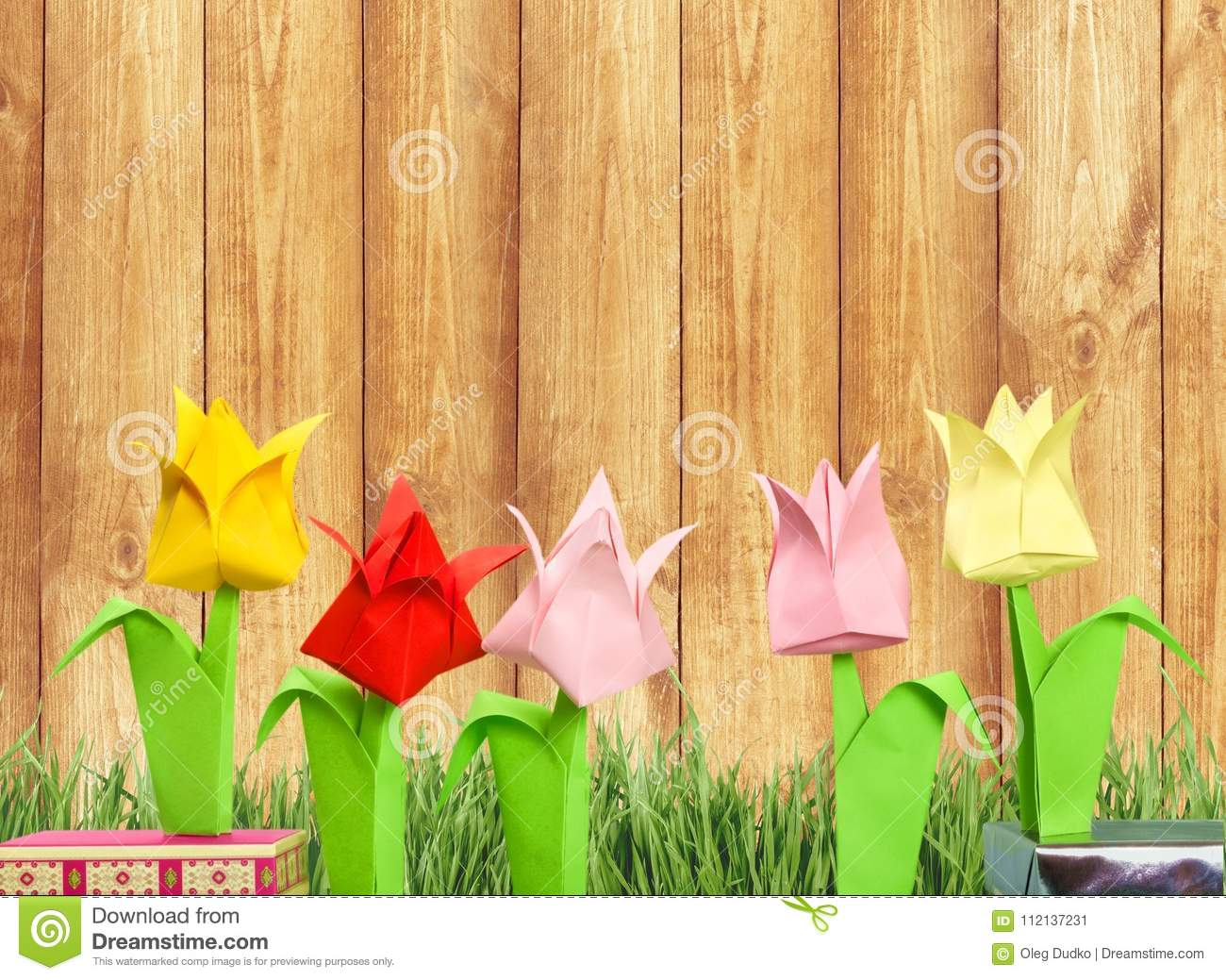 Cute origami flowers on background stock image image of greeting cute origami flowers on background mightylinksfo